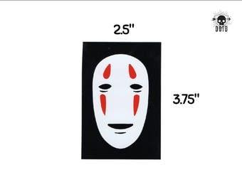 No Face miyazaki gold spirit - sticker opaque decal fun fandom bumper sticker laptop decal spirited away monster