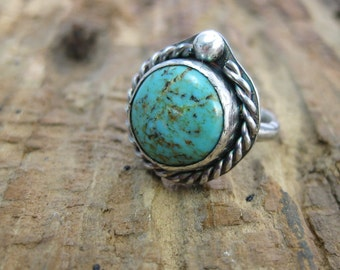 Turquoise Siren // One of a Kind Ring // Size 6 Ring // Sterling Silver and Turquoise  // Hand Crafted // Artisan // Eco Friendly