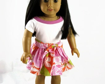 18 inch Doll Clothes, designed to fit like American Girl® doll clothes, doll clothes, Ruffled skirt, Shirt, AG clothes