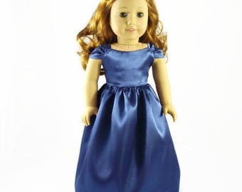 18 inch Doll Clothes, Gown, designed to fit like American Girl® doll clothes, AG clothes, Long dress
