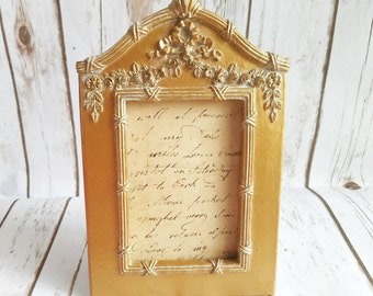 Ornate Gold Frame, Gold Roses Frame, Gold Picture Frame, Distressed Frame, Wedding Gold Frame, Victorian Frame, Ornate Frame