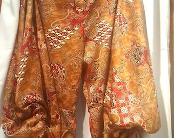 Harem Pants, handmade,  silk, S/M