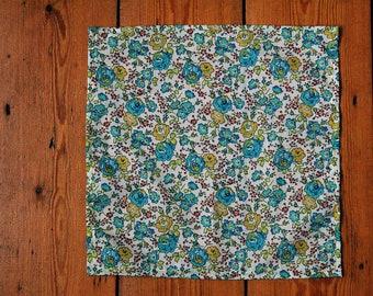 Handmade Liberty Fabric Pocket Square Handkerchief in Felicite