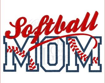 Softball Mom Embroidered Tee