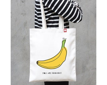 Personalised 'You Are Bananas' Tote Bag