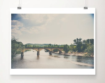 Dordogne photograph river photograph bridge photograph France photograph Dordogne print River Dore photograph French decor