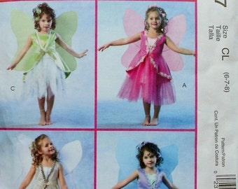 50%OFF McCall's Costumes Uncut Sewing Pattern FAIRIES FAIRY Child Halloween Costume