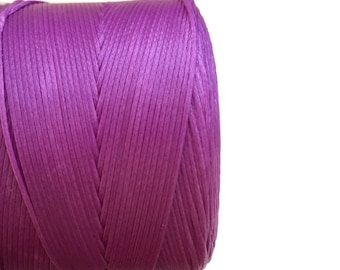 Purple Waxed Polyester Cord, Purple Polyester Thread, Purple Waxed Cord, Macrame Cord, Waxed Polyester Thread (0.8mm) 10m - 11yards S 40 173