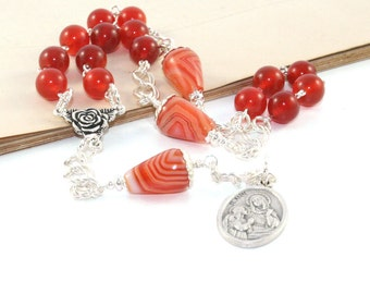 Beads of Saint Anne - Chaplet Rosary, Patron Saint of Mothers, Homemakers & Pregnancy