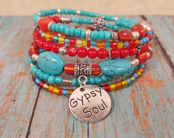 Memory Wire Bracelet with 6 Strands