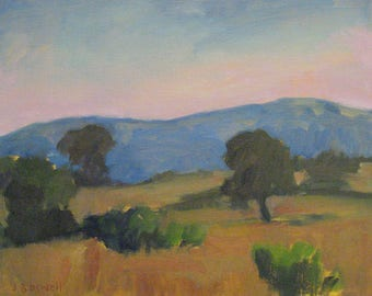 "Large 11""x14"" California Landscape Original Oil Painting Santa Barbara Modern Impressionist Jennifer Boswell"