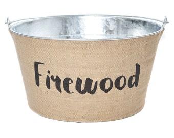 Firewood Decorative Bucket