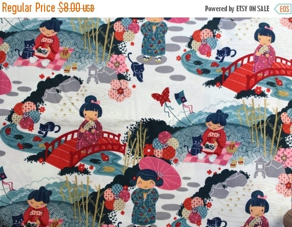 Oriental Doll Fabric,Asian Doll Fabric,Japanese Doll Fabric,Jo-Ann Fabrics,100% Cotton Fabric,Quilt Fabric,Apparel Fabric,Craft Fabric,BTY