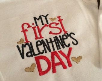 My First Valentine's Day Boy Version Onesie