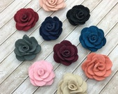 """Small Fabric Flowers, Tiny felt Roses, 1.5""""  Roses, Soft baby vintage rose flowers, baby headband flower, wholesale, supplies, DIY"""