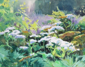 Misty Day Pushki - Alaskan wildflowers - Wild Celery in Bloom