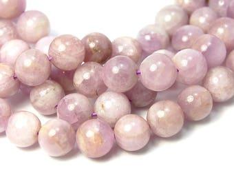 8mm Kunzite round beads -15.25 inch strand