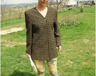 SALE Vintage 1970's Checked Blazer/Women Coat
