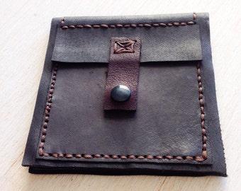 Leather wallet, Black leather wallet, Handmade, Men's wallet