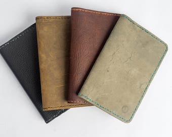 Oiled Leather Notebook or Passport Wallet : Made to Order