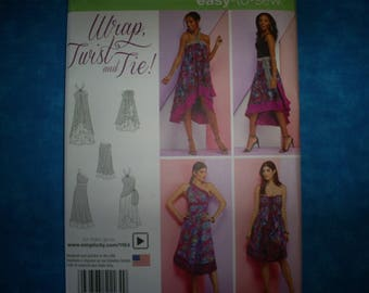 Simplicity 1164 Miss Size XS-XL Wrap Dress. Easy.
