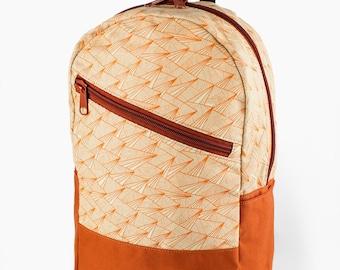 Caravan Backpack: Paper Plane-Orange