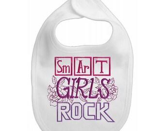 Smart Girls Rock -Baby Bib