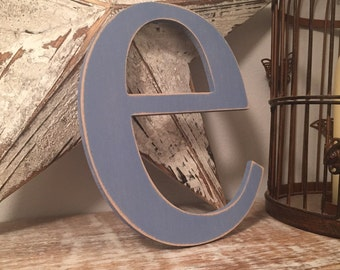 Handpainted Wooden Wall Letter - 'e' - New Times Roman - large lowercase