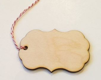 Wood tags - set of 10 rustic wood tags -great for gifts, weddings, crafts and more