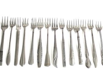 Stainless Steel Cocktail Forks Olive Fork Mismatched Flatware Set Completer Pieces