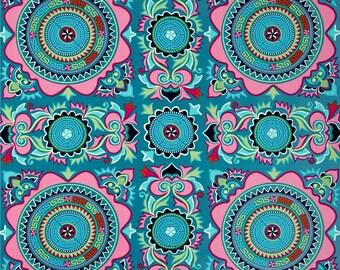 11300 Amy Butler PWAB154 Dream Weaver Mantra in teal  color - 1 yard