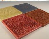 Architectural Random Texture Details - Tile Coasters - Set of 4