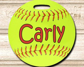 10 Softball Personalized Bag/Luggage Tags