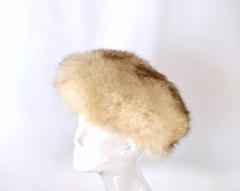 Vintage White Snow Arctic Fox Real Fur Winter Hat by Lowenthal's