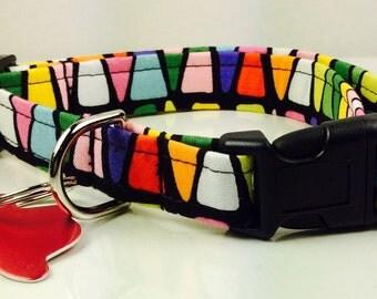 Christmas Glass - Dog Collar - Adjustable