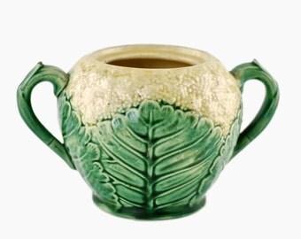 Antique Griffen, Smith and Hill Etruscan Majolica Cauliflower Sugar Bowl