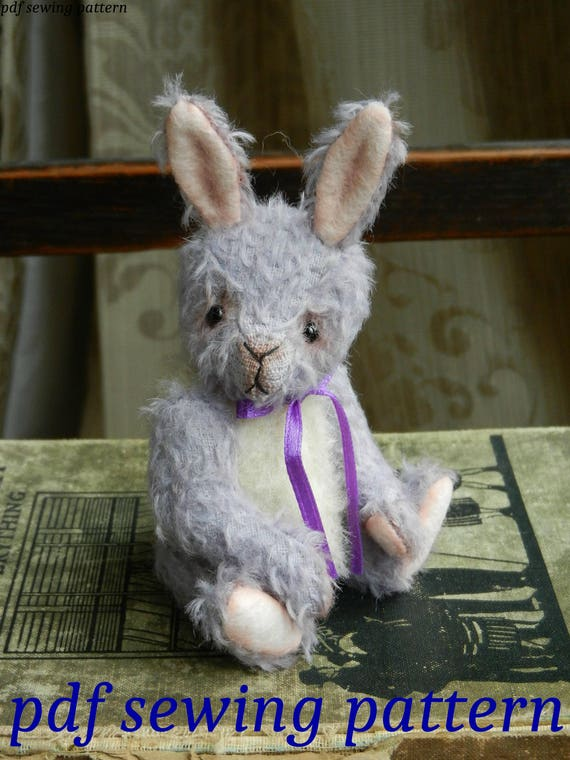"""PDF sewing pattern to make Cicily - 5.25"""" bunny"""