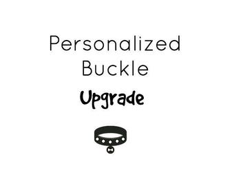UPGRADE Dog ID Metal Buckle Add-on. This is a upgrade