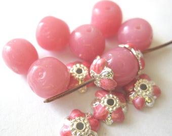 Vintage Czech Dimpled Beads E176C