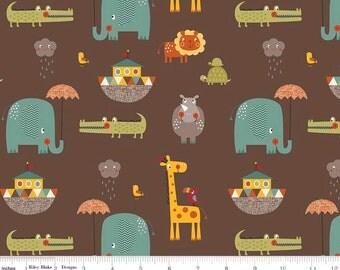 Giraffe Crossing 2 - Main Brown from Riley Blake