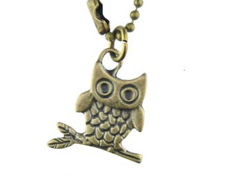 Owl Necklace Miniblings 80cm owl Necklace Eulen Vogel Bird owl owl Bronze