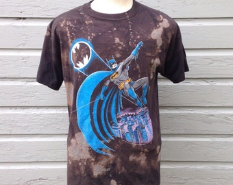 One-off customized vintage 1980's Batman t-shirt, slim large