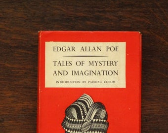 Edgar Allan Poe book Tales of Mystery and Imagination includes The Fall of the House of Usher, vintage 1930s book
