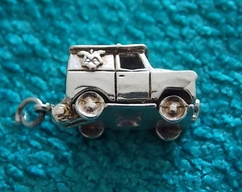 Vintage Silver Vehicle Charm  OPENS