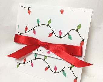 Christmas Lights Holiday Gift Card Holder