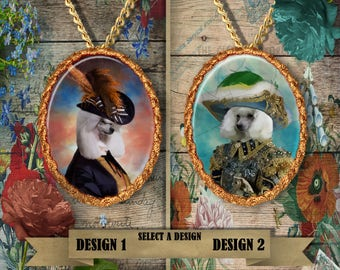 Poodle Jewelry. POODLE Pendant or Brooch. POODLE Necklace. Poodle  Portrait. Custom Dog Jewelry by Nobility Dogs. Dog Handmade Jewelry