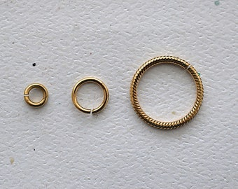 Brass Jump Rings - Jewelry Making - DreamJewelrySupplies