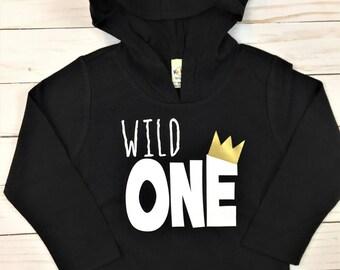 Wild One Hoodie // Birthday hoodie, Birthday pullover, Birthday Shirt, where the wild things are shirt, wild one, wild things