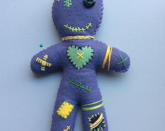 Voodoo Doll, Handmade, Felt Doll, Stitched Doll, Decoration, Home Decor, OOAK
