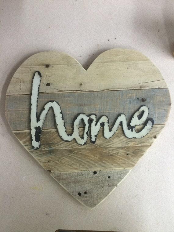wall art pallet wood wall decor wooden heart metal hello. Black Bedroom Furniture Sets. Home Design Ideas